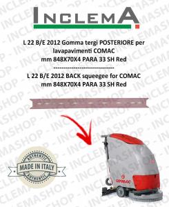 L 22 B/E 2012 goma de secado trasero para fregadora COMAC