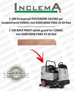 C 100 Paraspruzzi trasero DESTRO para fregadora COMAC