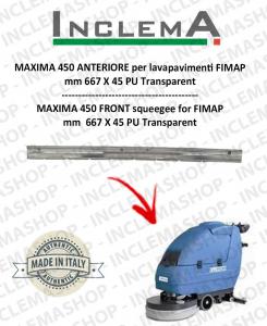 MAXIMA 450 goma de secado delantera para fregadora FIMAP