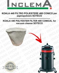 KOALA 440 Filtro de poliéster 440 cónico para aspiradora SOTECO