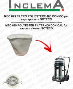 MEC 629 Filtro de poliéster 440 cónico para aspiradora SOTECO