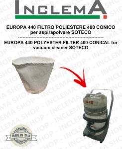 EUROPA 440 Filtro de poliéster 440 cónico para aspiradora SOTECO