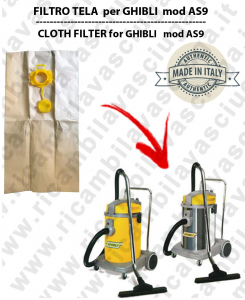 Papierfilter liter 19 mit stopper 10 Stücke für Staubsauger GHIBLI AS9