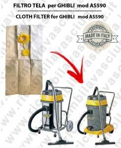 Papierfilter liter 19 mit stopper 10 Stücke für Staubsauger GHIBLI AS59/590
