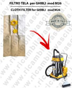 Papierfilter liter 19 mit stopper 10 Stücke für Staubsauger GHIBLI M26