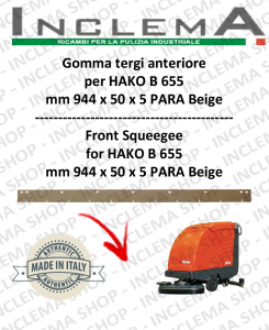 B 655 Vorne Sauglippen für Scheuersaugmaschinen  HAKO