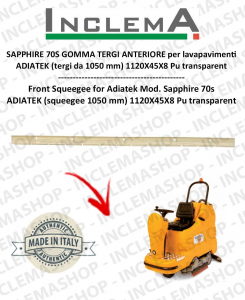 SAPPHIRE 70S Vorne Sauglippen für Scheuersaugmaschinen ADIATEK (tergi da 1050 mm)