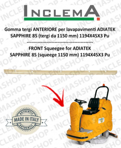 Vorne Sauglippen für Scheuersaugmaschinen ADIATEK SAPPHIRE 85 (tergi da 1150 mm)