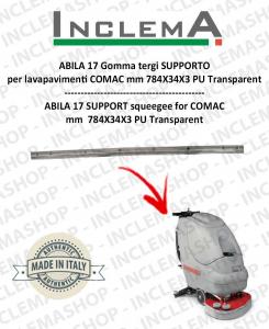 ABILA 17 gomma tergi SUPPORT für Scheuersaugmaschinen COMAC Old Alluminium sq.