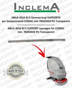 ABILA 2010 42 ünd gomma tergi SUPPORT für Scheuersaugmaschinen COMAC Old Alluminiumsq. till s/n 111011125