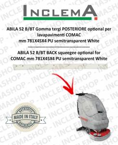 ABILA 2010 52 B/BT Hinten Sauglippen optional für Scheuersaugmaschinen COMAC Old Alluminiumsq. till s/n 111011125