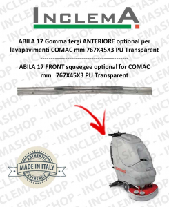 ABILA 17 Vorne Sauglippen optional für Scheuersaugmaschinen COMAC