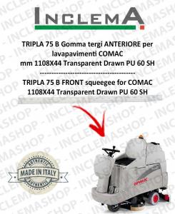TRIPLA 75 B Vorne Sauglippen für Scheuersaugmaschinen COMAC (tergi da 1085 mm)