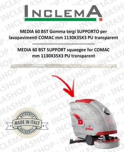 MEDIA 60 BST Unterstützung Sauglippen für Scheuersaugmaschinen COMAC