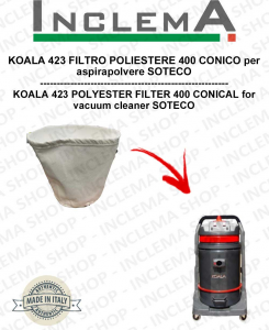 KOALA 423 POLYESTERFILTER 400 CONICO für Staubsauger SOTECO