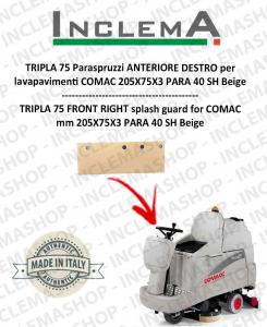 TRIPLA 75 B Paraspruzzi Vorne DESTRO für Scheuersaugmaschinen COMAC