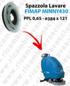 BROSSE A LAVER pour autolaveuses FIMAP MINNY 430. Reference: PPL 0,65  diamétre 384 X 121