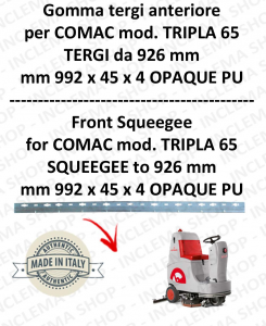 TRIPLA 65 B BAVETTE AVANT pour COMAC rechange autolaveuses suceur