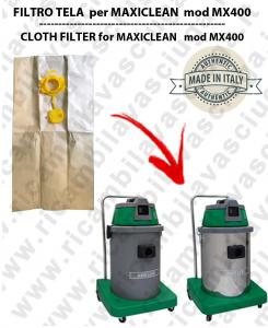 Sac en papier litres 19 avec bouchon pour MAXICLEAN mod MX 400 conf. 10 piéces - aspirateurs SYNCLEAN