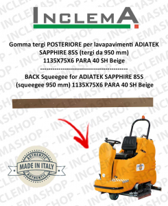 Gomma tergi POSTERIORE per lavapavimenti ADIATEK SAPPHIRE 85S (tergi da 950 mm)