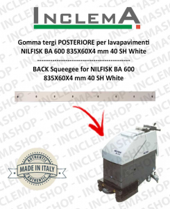 Gomma tergi POSTERIORE per Nilfisk BA 600