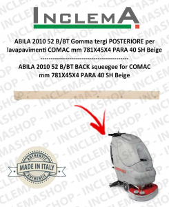 ABILA 2010 52 B/BT Gomma tergi POSTERIORE per lavapavimenti COMAC Old Alluminium Sq. 111011125-2