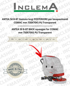 ANTEA 50 B-BT Gomma tergi POSTERIORE per lavapavimenti COMAC