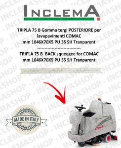 TRIPLA 75 B Gomma tergi POSTERIORE per lavapavimenti COMAC (tergi da 926mm)