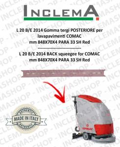 L 20 2014 Gomma tergi POSTERIORE per lavapavimenti COMAC (tergi da 780mm)