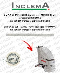 SIMPLA 50 B/BT/E 2009 Gomma tergi ANTERIORE per lavapavimenti COMAC