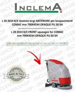 L 20 2014 B/E Gomma tergi ANTERIORE per lavapavimenti COMAC (tergi 780mm)