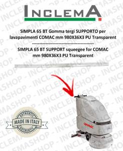 SIMPLA 65 BT Gomma tergi SUPPORTO per lavapavimenti COMAC