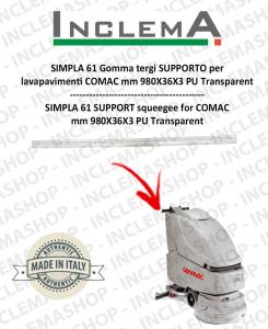 SIMPLA 61 Gomma tergi SUPPORTO per lavapavimenti COMAC