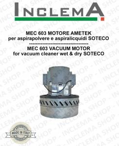 MEC 603 MOTORE ASPIRAZIONE AMETEK per aspirapolvere SOTECO