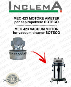 MEC 423 MOTORE ASPIRAZIONE AMETEK per aspirapolvere SOTECO