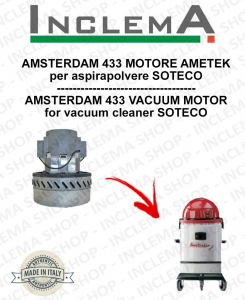 AMSTERDAM 433 Vacuum Motor Amatek for vacuum cleaner SOTECO