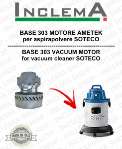 BASE 303 MOTORE ASPIRAZIONE AMETEK per aspirapolvere SOTECO