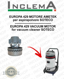 EUROPA 429 Vacuum Motor Amatek for vacuum cleaner SOTECO