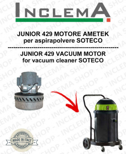 JUNIOR 429 MOTORE ASPIRAZIONE AMETEK per aspirapolvere SOTECO