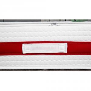 Materasso in MEMORY FOAM alto 25 cm con CUSCINI Cervicale GRATIS Lastra Massaggiante, Ortopedico, Rivestimento Anallergico Bianco SFODERABILE