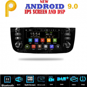 ANDROID 9.0 GPS USB SD WI-FI Bluetooth autoradio navigatore compatibile con Fiat Punto Evo/Street 2010, 2011, 2012, 2013, 2014, 2015