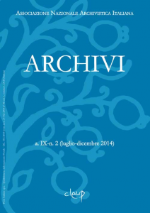 Archivi a.IX-n. 2 (luglio-dicembre 2014)
