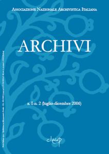 Archivi a.I n.2 (luglio-dicembre 2006)