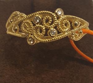 Anello fascia fatto a mano lavorazione filigrana oro giallo