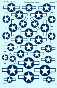 US INSIGNIA (STAR & BARS) DOUBLE SHEET SET
