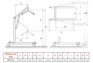 Sollevamalati idraulico serie Arkimed