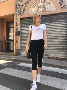 Pantalone con Bande laterali
