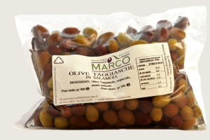 Olive taggiasche in salamoia in busta