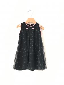 Vestito nero con stelle e fiocco
