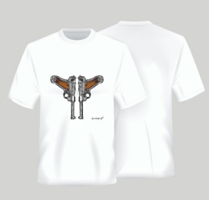 T-SHIRT DOUBLE LUGER P-08